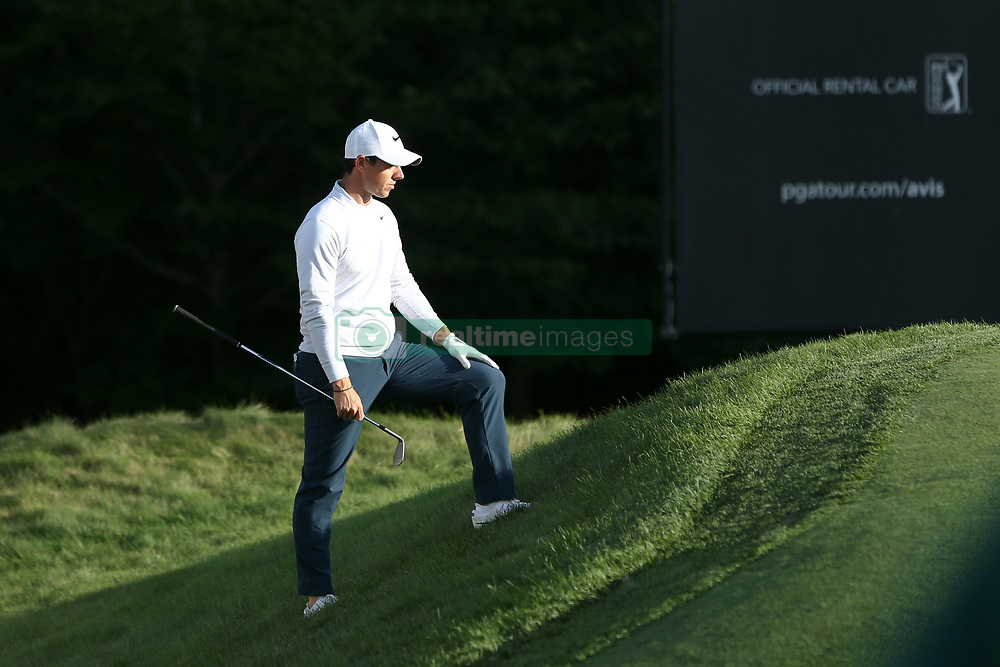 September 1, 2017 - Norton, Massachusetts, United States - Rory McIlroy waits on the 18th green during the first round of the Dell Technologies Championship on at TPC Boston. (Credit Image: © Debby Wong via ZUMA Wire)