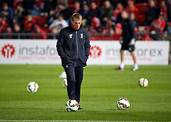 ADELAIDE, AUSTRALIA - Sunday, July 19, 2015: Liverpool's manager Brendan Rodgers during a training session at Coopers Stadium ahead of a preseason friendly match against Adelaide United on day seven of the club's preseason tour. (Pic by David Rawcliffe/Propaganda)