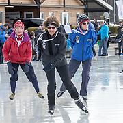 NLD/Biddinghuizen//20170305 - De Hollandse 100 - Stichting Lymph & Co 2017, Prinses Margriet aan het schaatsen met haar vriendinnen