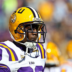 November 6, 2010; Baton Rouge, LA, USA;LSU Tigers wide receiver Terrence Toliver (80) on the field prior to kickoff of a game against the Alabama Crimson Tide at Tiger Stadium.  Mandatory Credit: Derick E. Hingle