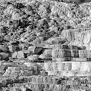 Limited edition photograph of the travertine terraces at Mammoth Hot Springs in Yellowstone National Park, Wyoming.