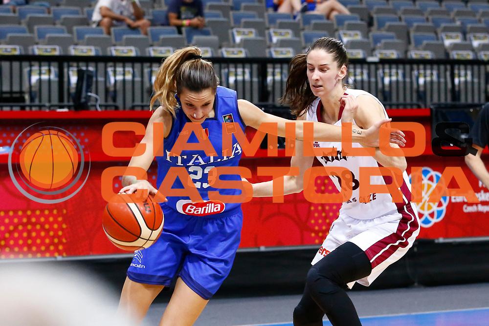 Sabrina Cinili<br /> Italia - Lettonia<br /> Nazionale Femminile Senior - EUROBASKET 2017<br /> O2 Arena, Praga, 24/06/2017<br /> Foto Ciamillo-Castoria / M.Brondi