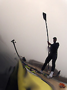 Caversham, Great Britain,  Mo SBIHI, Training session, before the November sculling Test and Pairs race.  Caversham Lake, GB Rowing,  Training Centre.  Thursday  17/11/2011  [Mandatory Credit. Peter Spurrier/Intersport Images] Sunrise, Ground Mist and Rain.