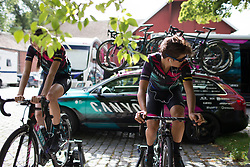 Barbara Guarischi (ITA) of CANYON//SRAM Racing warms up for Stage 2 of the Ladies Tour of Norway - a 140.4 km road race, between Sarpsborg and Fredrikstad on August 19, 2017, in Ostfold, Norway. (Photo by Balint Hamvas/Velofocus.com)