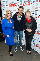 Hiedi Range, Ben Freeman and Cheryl Baker, WhatsOnStage Awards Nominations - launch party, Cafe De Paris, London UK, 06 December 2013, Photo by Raimondas Kazenas