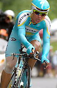FRANCE 21st JULY 2007: Astana's Alexandre Vinokourov during stage 13 of the Tour de France cycle race. This stage was a time trial.