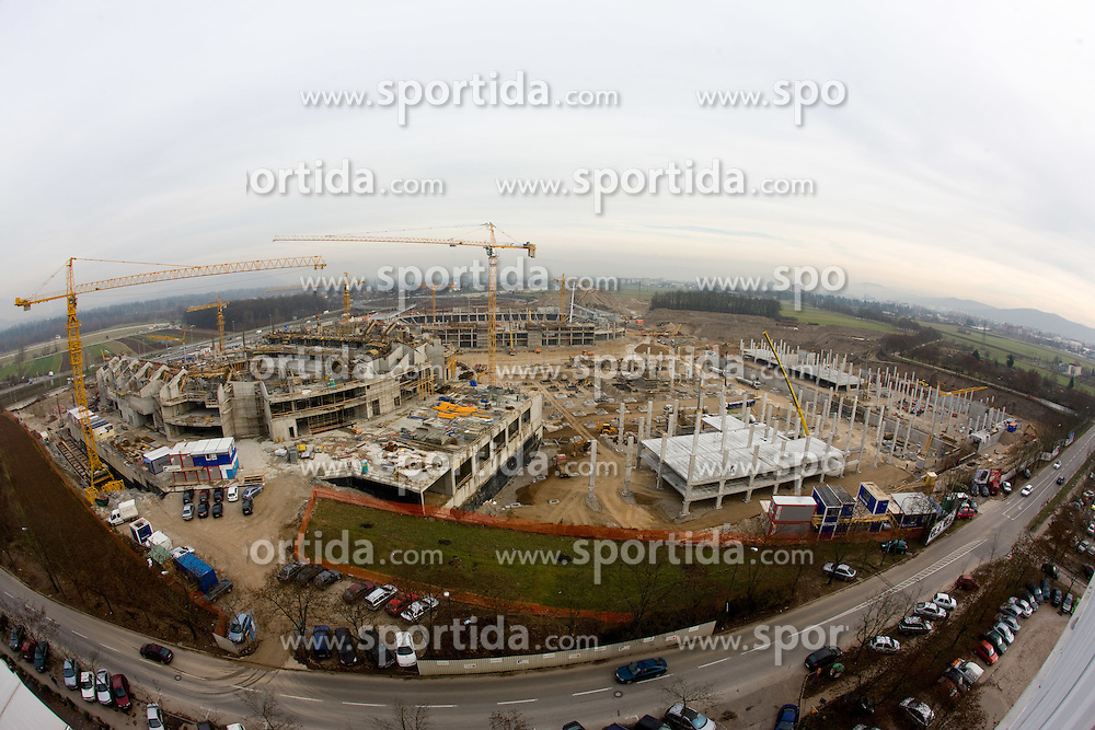 Building of new football stadium and basketball arena in Ljubljana - Stozice, on December 10, 2009, in Ljubljana, Slovenia.  (Photo by Vid Ponikvar / Sportida)