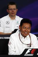 Yasuhisa Arai (JPN) Honda Motorsport Chief Officer in the FIA Press Conference.<br /> Japanese Grand Prix, Friday 3rd October 2014. Suzuka, Japan.