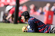 Arsenal goalkeeper Petr Cech (33) during warm up at the The FA Cup Final match between Arsenal and Chelsea at Wembley Stadium, London, England on 27 May 2017. Photo by Sebastian Frej.