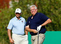 Golf - 2019 Senior Open Championship at Royal Lytham & St Annes - First Round <br /> <br /> Colin Montgomerie (SCO) watches his drive on the 2nd hole as Retief Goosen (RSA) looks on.<br /> <br /> COLORSPORT/ALAN MARTIN