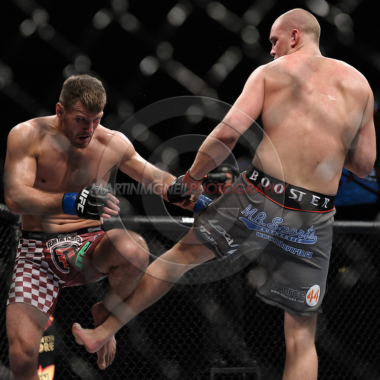 """NOTTINGHAM, ENGLAND, SEPTEMBER 29, 2012: Action from in and around the octagon during """"UFC on Fuel TV 5: Struve vs. Miocic"""" inside Capital FM Arena in Nottingham, United Kingdom on Saturday, September 29, 2012 © Martin McNeil"""