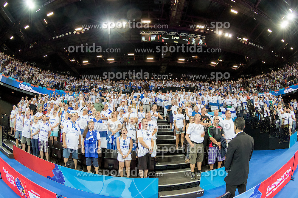 06.09.2015, Park Suites Arena, Montpellier, FRA, Finnland vs Israel, Gruppe A, im Bild Fans, &Uuml;bersicht auf die Halle // during the FIBA Eurobasket 2015, group A match between Finland and Israel at the Park Suites Arena in Montpellier, France on 2015/09/06. EXPA Pictures &copy; 2015, PhotoCredit: EXPA/ Newspix/ Pawel Pietranik<br /> <br /> *****ATTENTION - for AUT, SLO, CRO, SRB, BIH, MAZ, TUR, SUI, SWE only*****