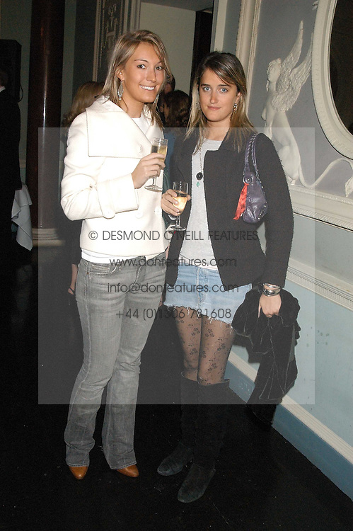 Left to right, OLIVIA BUCKINGHAM and VIOLET VON WESTENHOLTZ at a party hosted by Tatler magazine to celebrate the publication of Lunar park by Bret Easton Ellis held at Home House, 20 Portman Square, London W1 on 5th October 2005.<br />