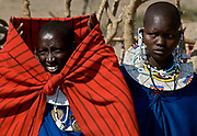 Maasai people singing and dancing. Northern Tanzania.