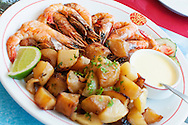 Fresh Creole cuisine in French Guiana, an overseas territory of France in South America.