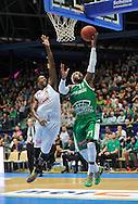 Wroclaw 19/10/2014<br /> Tauron Basket Liga<br /> Sezon 2014/2015<br /> Mecz WKS Slask Wroclaw v Stelmet Zielona Gora<br /> Na zdj. Roderick Trice /Slask/ i Steven Burtt /Stelmet/<br /> Fot. Piotr Hawalej