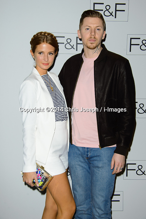 Professor Green and Millie Mackintosh attend F+F AW 14 Fashion Show. Somerset House, London, United Kingdom. Thursday, 3rd April 2014. Picture by Chris Joseph / i-Images