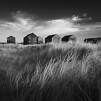 The fishing huts at Winterton-On-Sea this morning,