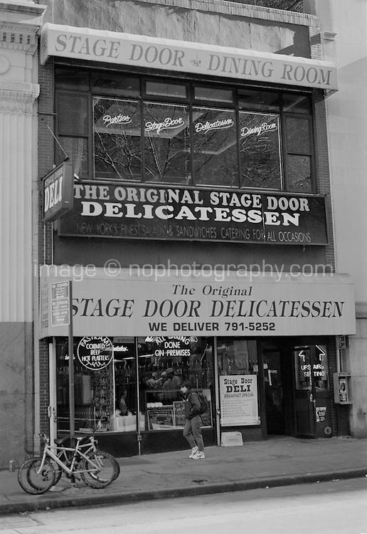 The Stage Door Delicatessen on Vesey Street Lower Manhattan New York circa 2000