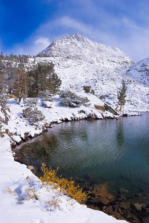 Clearing storm over the Sierra crest from lower Gem Lake, John Muir Wilderness, Sierra Nevada Mountains, California