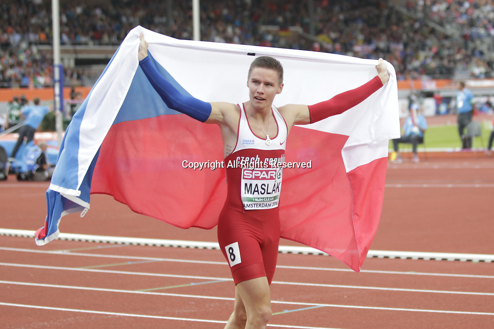 08.07.2016. Amsterdam, Holland. The European Athletics Championships.   Pavel Maslak 2nd in the men's 400m at the European Championships