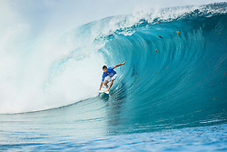 Aug 12, 2017 - teahupo'o, Tahiti, French Polynesia - Jeremy Flores (FRA) placed 2nd in Heat 2 of Round Three at Billabong Pro Tahiti 2017 (Credit Image: © WSL/POULLENOT/World Surf League via ZUMA Wire)