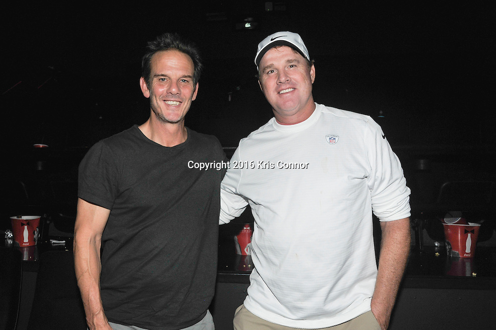 RICHMOND, VA - AUG 13: Director Peter Berg and Redskins Coach Jay Gruden pose for a photo during a special screening for the Washington Redskins football team of Lions gate Entertainment's new movie Deepwater Horizon at Bow Tie Cinema on August 13, 2016 in Richmond, Va. (Photo by Kris Connor for Lions Gate Entertainment)