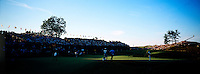 Vijay Singh, left puts on the 18th green in the playoff round on his way to victory of the 86th PGA championship held at Whistling Straits Sunday Aug. 15, 2004 Haven Wi.     Photo Darren Hauck...................................................................................