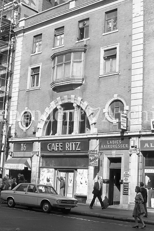 The old Cafe Ritz, Abbey Street, Dublin. September 1972. (Part of the Independent Newspapers/NLI Collection)
