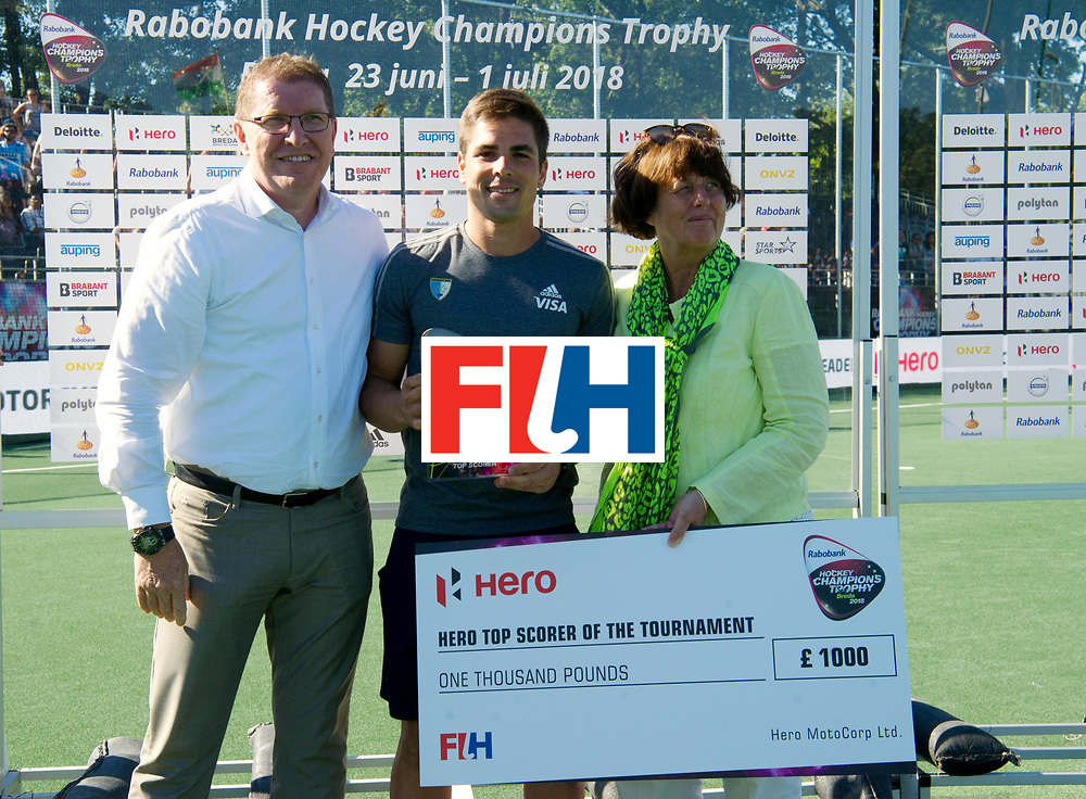 BREDA - Rabobank Hockey Champions Trophy<br /> Final Australia - India<br /> Australia won after shoot outs.<br /> Photo: Gonzallo Peillat topscorer.<br /> COPYRIGHT WORLDSPORTPICS FRANK UIJLENBROEK