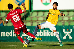 Ilija Martinović of Aluminij vs Mustafa Nukić of Bravo during football match between NK Bravo and NK Aluminij in 5th Round of Prva liga Telekom Slovenije 2019/20, on August 9, 2019 in Sports park ZAK, Ljubljana, Slovenia. Photo by Vid Ponikvar / Sportida