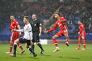 MK Dons forward, on loan from Norwich City, Josh Murphy  scores for MK Dons  during the Sky Bet Championship match between Bolton Wanderers and Milton Keynes Dons at the Macron Stadium, Bolton, England on 23 January 2016. Photo by Simon Davies.