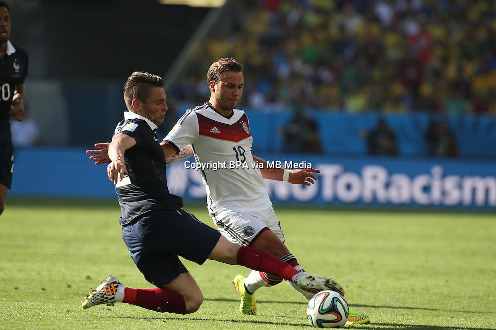 Mario Goetze.  France v Germany, quarter-final. FIFA World Cup Brazil 2014. 4 July 2014