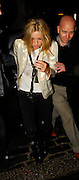 15.JANUARY.2007. LONDON<br /> <br /> KATE MOSS LEAVING THE BOOGALOO BAR IN ARCHWAY AFTER WATCHING BOYFRIEND PETE DOHERTY PERFORMING AT A GIG.<br /> <br /> BYLINE: EDBIMAGEARCHIVE.CO.UK<br /> <br /> *THIS IMAGE IS STRICTLY FOR UK NEWSPAPERS AND MAGAZINES ONLY*<br /> *FOR WORLD WIDE SALES AND WEB USE PLEASE CONTACT EDBIMAGEARCHIVE - 0208 954 5968*