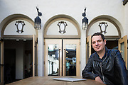 Shortlist CEO Martin Konrad poses for a portrait at HanaHaus in Palo Alto, California, on January 27, 2017. (Stan Olszewski for Silicon Valley Business Journal)