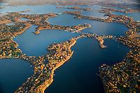 The many bays of popular Lake Minnetonka near Minneapolis, Minnesota, USA.