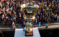 Trophy of PrvaLiga prior to the final ceremony after the football match between NK Maribor and NK Domzale of 36th - Last Round of 1st Slovenian football league PrvaLiga, on May 29, 2011 in Stadium Ljudski vrt, Maribor, Slovenia. (Photo By Vid Ponikvar / Sportida.com)