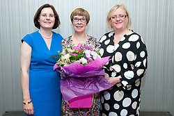 Pictured is, from left, Lincolnshire Co-operative chief executive Ursula Lidbetter, Tena Martin, Lincolnshire Co-operative president Amy Morley<br /> <br /> Lincolnshire Co-operative long service awards 2015, held at The Showroom, Tritton Road, Lincoln.<br /> <br /> Date: September 23, 2015<br /> Picture: Chris Vaughan/Chris Vaughan Photography