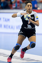 Ana Paula Rodrigues Belo of Rostov-Don during handball match between RK Krim Mercator and Rostov-Don in Main Round of Women's EHF Champions League 2017/18, on March 3, 2018 in Sports hall Kodeljevo, Ljubljana, Slovenia. Photo by Urban Urbanc / Sportida
