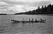 Northwest coast Indian dugout canoe