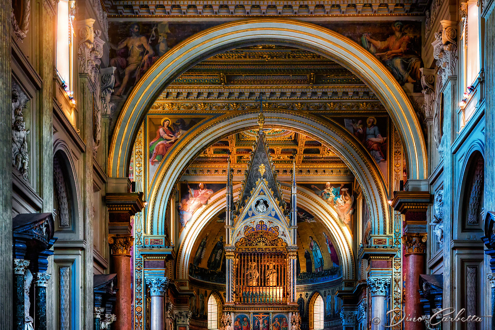 """The main altar of the Archbishop of St. John in Lateran Rome""...<br />