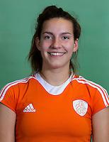 DELFT - Frederique Matla. Nederlands zaalhockeyteam dames voor EK in Minsk. COPYRIGHT KOEN SUYK