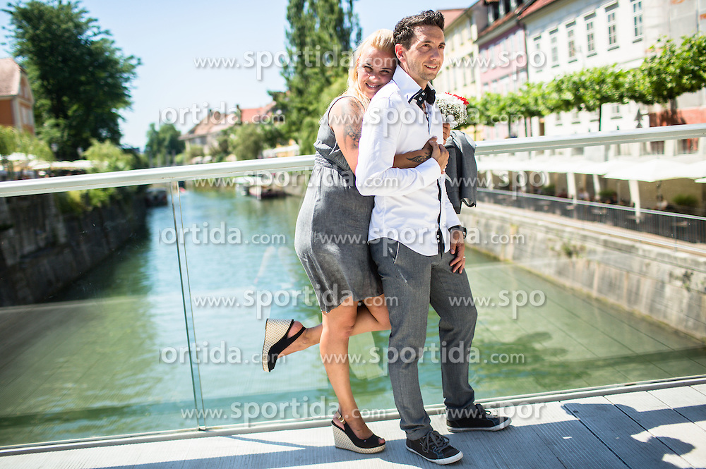 Wedding of Brigita and Kristian, on June 29, 2016 in Ljubljana, Slovenia. Photo by Vid Ponikvar / Sportida