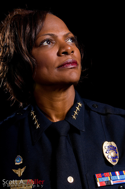 May 19, 2008; Orlando, FL, USA; Orlando Police Chief Val Demings....Photo By Scott A. Miller.