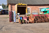 """Sofa sales are slow at this local market a few blocks from the Volga River in Uglich, Russia. As one of Russia's """"Golden Ring"""" cities, Uglich is designated a town of significant cultural and historic importance."""