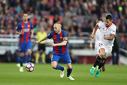 April 5, 2017 - Barcelona, Spain - ANDRES INIESTA of FC Barcelona during the Spanish championship Liga football match between FC Barcelona and Sevilla FC on April 5, 2017 at Camp Nou stadium in Barcelona, Spain. (Credit Image: © Manuel Blondeau via ZUMA Wire)