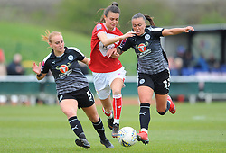 Natasha Harding of Reading Women challenges Rosella Ayane of Bristol City - Mandatory by-line: Nizaam Jones/JMP- 31/03/2019 - FOOTBALL - Stoke Gifford Stadium - Bristol, England - Bristol City Women v Reading Women - FA Women's Super League 1