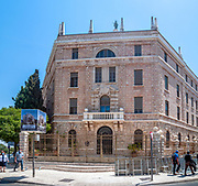 Terra Sancta College located at Paris Square, Jerusalem, Israel. The complex was built in 1926, with the design of the Italian architect Antonio Barluzzi