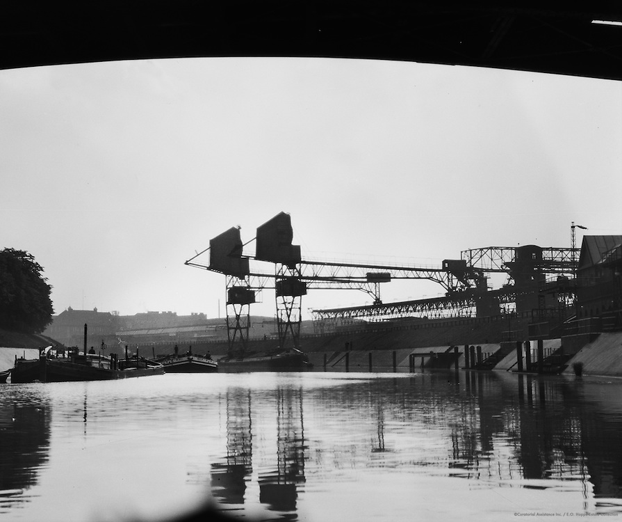Barges and Cranes Seen From Underneath Arch, Berlin, 1925