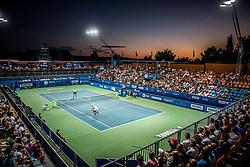 Centre court full of fans during  final match between Sergiy Stakhovsky (UKR) and Matteo Berrettini (ITA) of ATP Challenger Zavarovalnica Sava Slovenia Open 2017, on August 12, 2017 in Sports centre, Portoroz/Portorose, Slovenia. Photo by Vid Ponikvar / Sportida